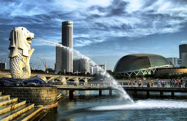Wisata Singapura - Merlion Park